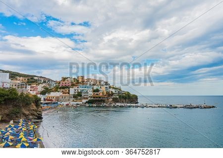 Bali, Crete, Greece - October 7, 2019: The Colorful Bay Of The Popular Resort Of Crete With An Amazi