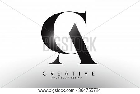 Ac A C Letters Design Logo With An Elegant And Classic Look Vector Illustration. Creative Concept Wi