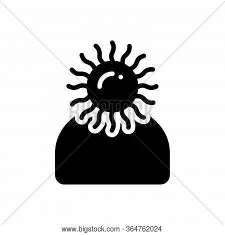 Black Solid Icon For Optimistic  Sanguine Hopeful
