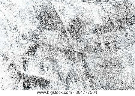 Black And White Sketch Of A Cut Tree After Sawing. Abstract Background.