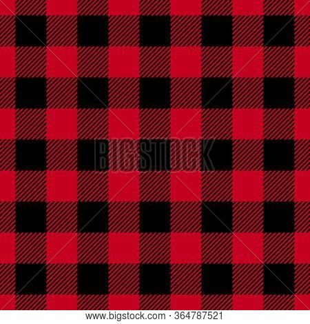 Vector Illustration Of Seamless Red And Black Background