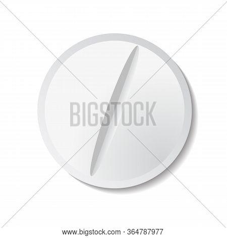 Vector Illustration Of White Tablet On Plain Background