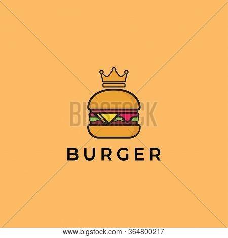 Burger Logo Design - Restaurant Logo Template - Food Vector