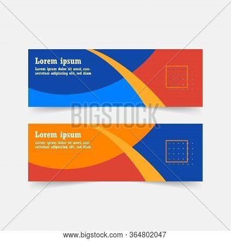 Abstract Banner Template Design. Horizontal Header, Web Banner. Social Media Cover, Poster. Vector A