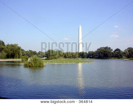 Washington Monument With Reflection