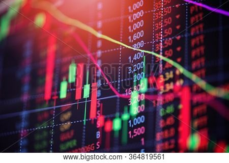 Stock Market Exchange Loss Trading Graph Analysis Investment Indicator Business Graph Charts Of Fina