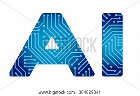 Vector Artificial Intelligence Logo Isolated On A White Background.