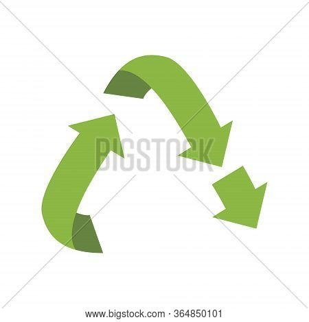 Vector Downcycling Sign, Isolated On White Background. Green Reuse Symbol For Ecological Design, Lab