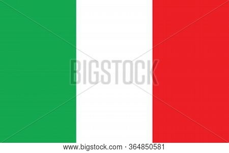 Italy Flag Vector Graphic. Rectangle Italian Flag Illustration. Italy Country Flag Is A Symbol Of Fr