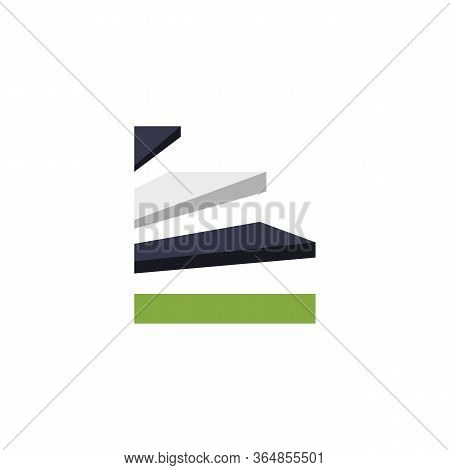 Multicolore Stairs Concept Abstract Logo Design. Succes Or Succeed Idea And Inspiration Logo Design