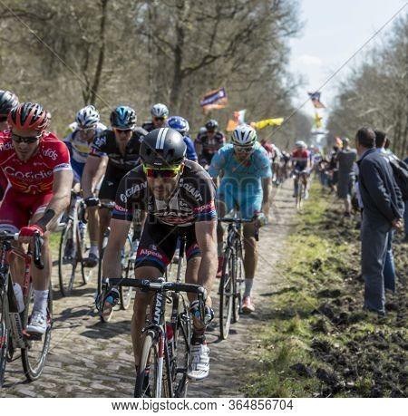 Wallers,france - April 12,2015: The German Cyclist John Degenkolb Of Team Giant-apecin,the Winner Of
