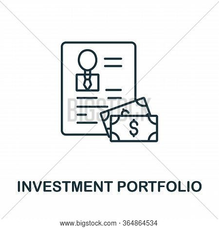 Investment Portfolio Icon From Global Business Collection. Simple Line Investment Portfolio Icon For