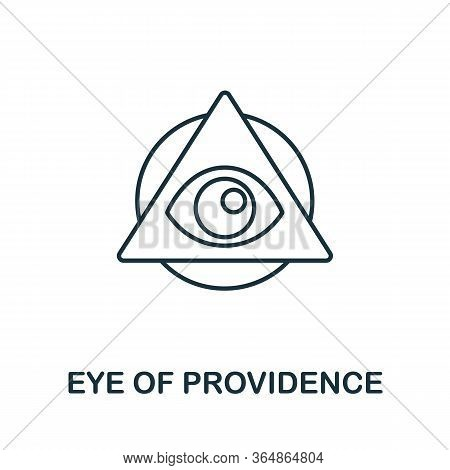 Eye Of Providence Icon From Global Business Collection. Simple Line Eye Of Providence Icon For Templ