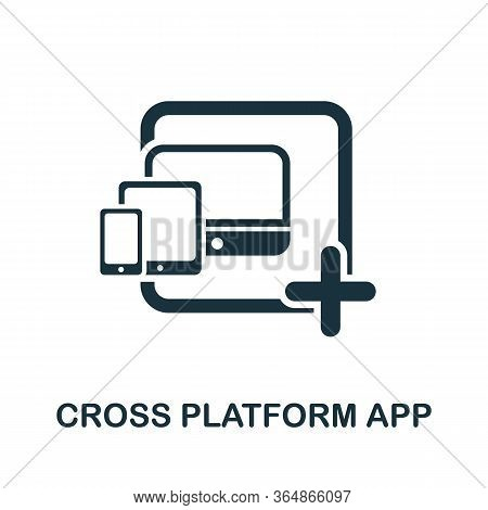Cross Platform App Icon From Mobile App Development Collection. Simple Line Cross Platform App Icon