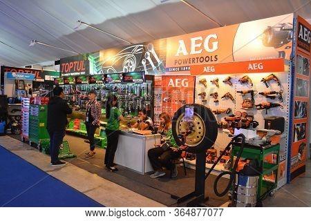 Pasay, Ph - Oct 27 - Aeg Powertools Booth At Philippine International Motor Show On October 27, 2018