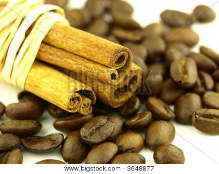 Cinnamon And Coffee Beans