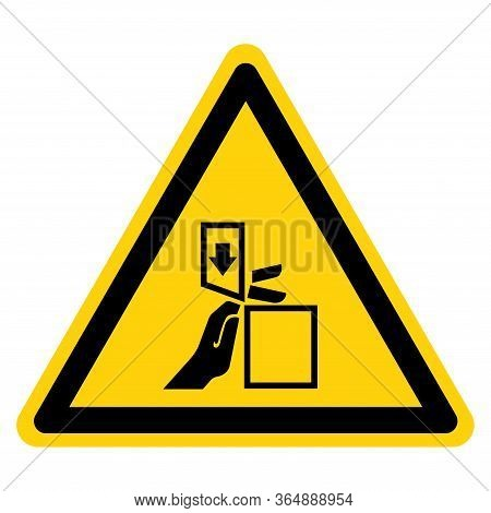 Warning Crush And Cutting Of Finger Hazard Symbol Sign ,vector Illustration, Isolate On White Backgr