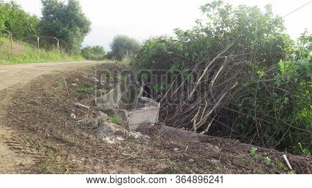 Cleaned Up Verge With Exposed Irrigation Canal