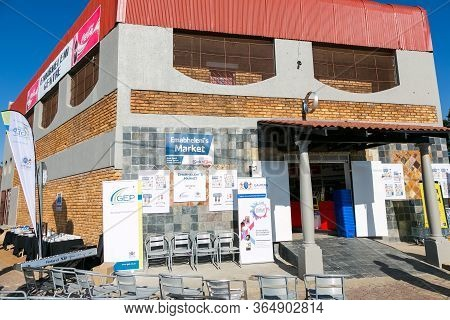 Entrance At Local Pick N Pay Spaza Shop Grocery Store