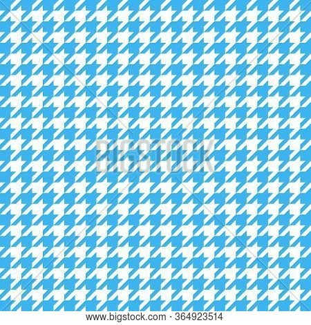 Goose Foot. Pattern Of Crows Feet In Blue And White Cage. Glen Plaid. Houndstooth Tartan Tweed. Dogs