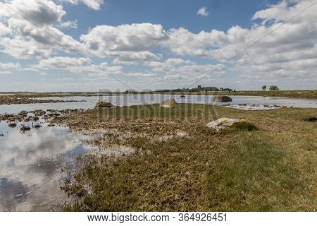Kalo, Denmark - May 02, 2020:  Kalo Castle (kalø Slot) Is A Historic Ruined Castle Located In Easter