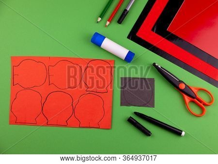 Step 2. Step By Step Instructions. How To Make A Red Poppy From Colored Paper. Creative Crafts For V