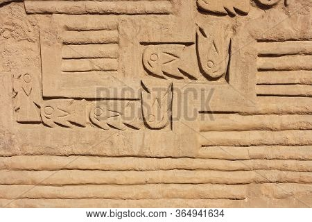 Decorative Reliefs In The Archaeological Ruins Of Chan Chan, Peru