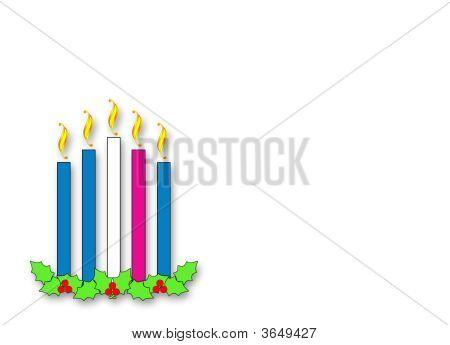 Advent Candles Horizontal