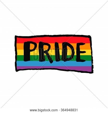 Lettering Text Pride In Doodle Style - Life,gets,better,together.hand Written Pride, Love, Peace Let