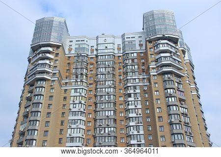 Kyiv / Ukraine. 09 March 2019:  Apartment Building. View Of Multistory Modern Blocks Of Flat In Kyiv