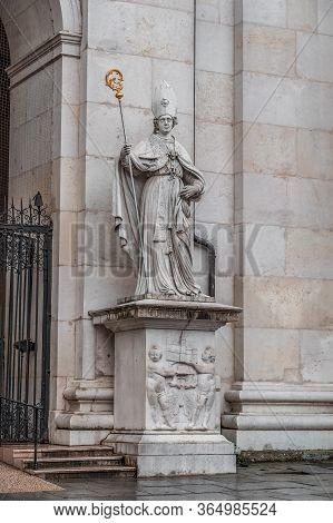 Feb 4, 2020 - Salzburg, Austria: St. Vergilius Statue At The Front Gate Of Cathedral Of Salzburg Arc