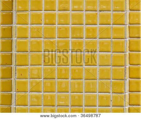 Square Yellow Brick Wall