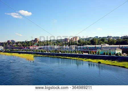 IRKUTSK, RUSSIA - 04 JULY, 2019 - Railway station in Irkutsk, eastern Siberia, Russian Federation