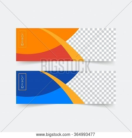 Abstract Banner Template Design. Horizontal Header, Web Banner. Social Media Cover, Poster. Vector A