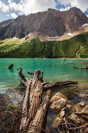 The Rocky Mountains.  Lower Sherbrook Lake   Yoho National Park, British Columbia , Canada