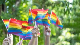 Lgbt Pride Or Gay Pride With Rainbow Flag For Lesbian, Gay, Bisexual, And Transgender People Human R