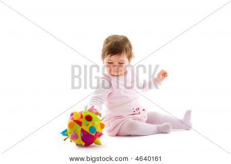 Happy Baby isoliert