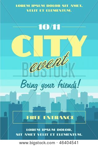City event poster