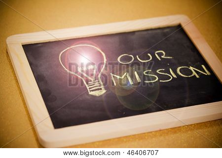 Chalk Lightbulb For Business Vision, Flare Version