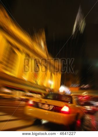 Taxi Outside Grand Central Station