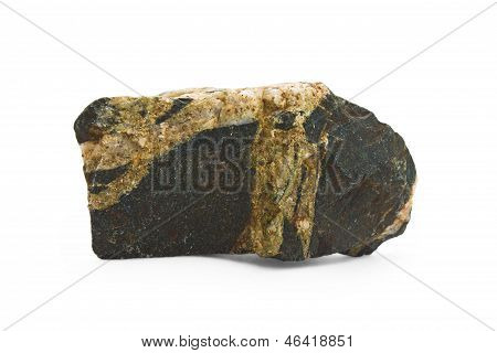 stone isolated white rock background natural granite boulder sol