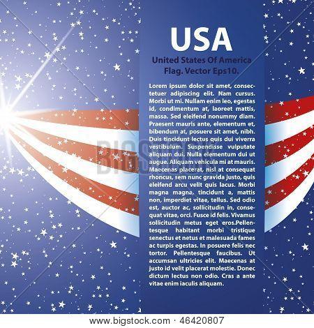 United States of America Flag background USA