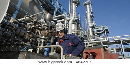 Oil, Engineer In Panoramic View