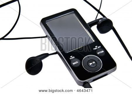 Mp3 Player And Headphones