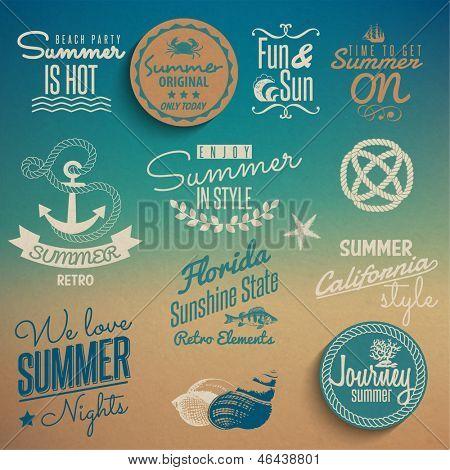 Sommer Vintage Elemente