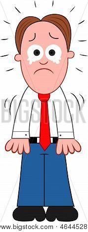 Cartoon Businessman Crying