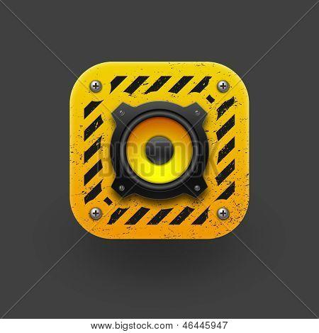 Speaker icon. Vector illustration eps10