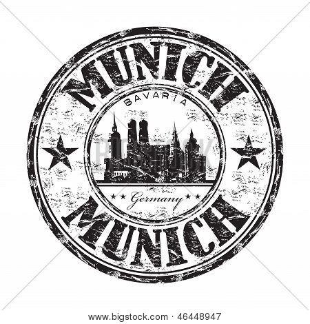 Munich grunge rubber stamp