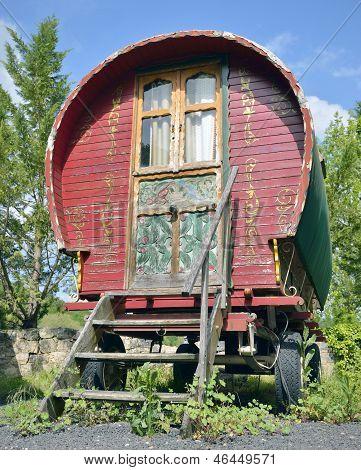 Traditional gypsy caravan