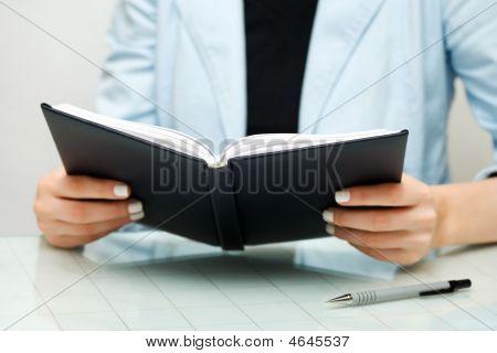 Businesswoman Reading.